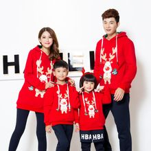 winter warm mother and daughter father and son family matching outfits tops garments family outfit christmas dad son fashion(China (Mainland))