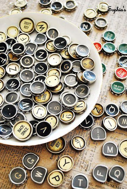 How to Make Typewriter Key Jewelry