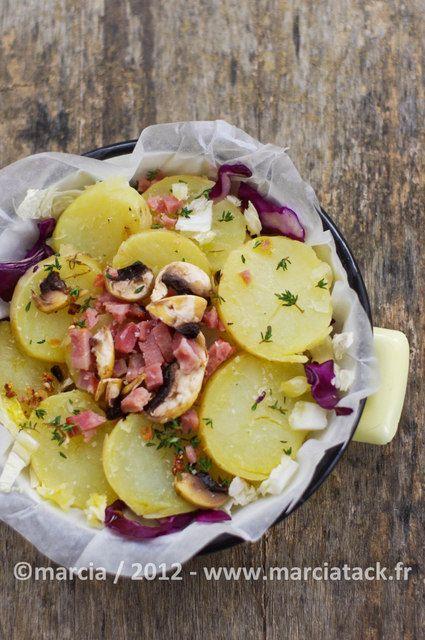 Une recette de gratin de pommes de terre au choux rouge et choux chinois, pleine de couleurs qui donnent envie de taper dans le plat avant de passer à table … On entre de plein pied dans la saison des choux, et comme bien des personnes pour ne pas s'en lasser et pour que toutEn savoir plus