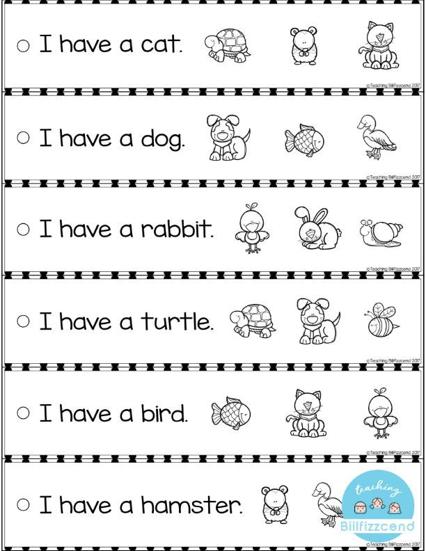 Free Reading Fluency And Comprehension Sentence Strip With Images