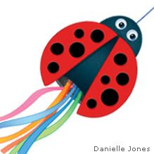 Make a ladybug windsock using a recycled oatmeal container. From Ranger Rick magazine.