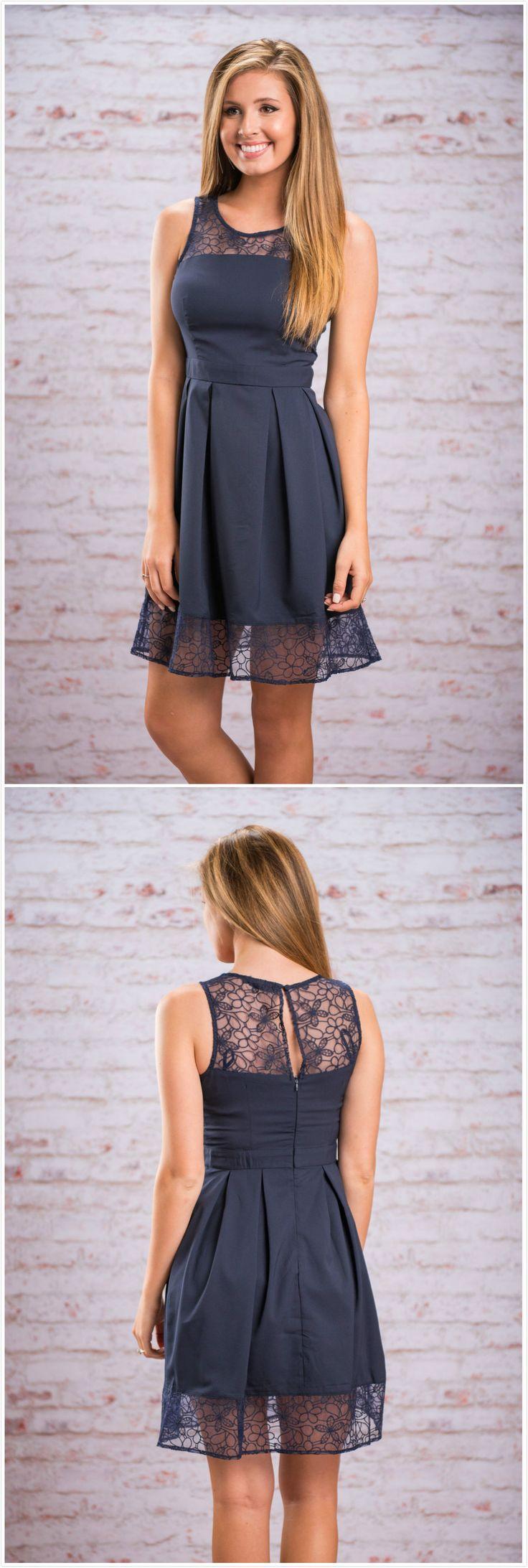 Round Neck Sleeveless Lace Splicing Midi Dresses