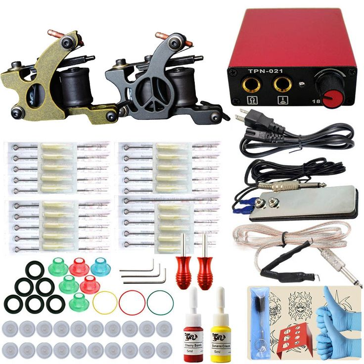 59.90$  Buy now - http://alivcw.worldwells.pw/go.php?t=32737660033 - ITATOO Tattoo Kit Cheap Tattoo Machine Set a Pen Kit Tattooing Ink Machine Gun Supplies For Jewelry Weapon Professional TK104015