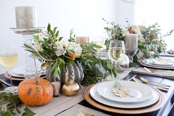 8733 best decorating ideas images on pinterest family Simple thanksgiving table decorations