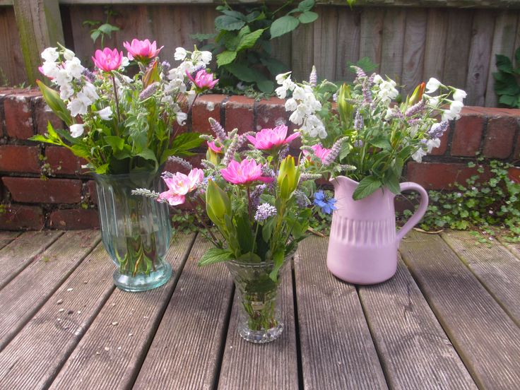 Delphiniums, Mentha, Lavender, Dahlia and Nigella