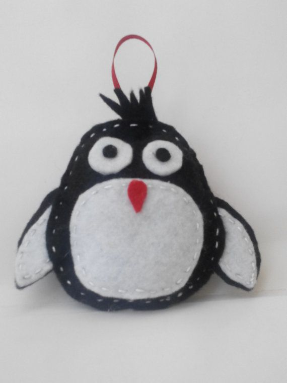 felt pinguin christmas ornament от linaantoniou на Etsy