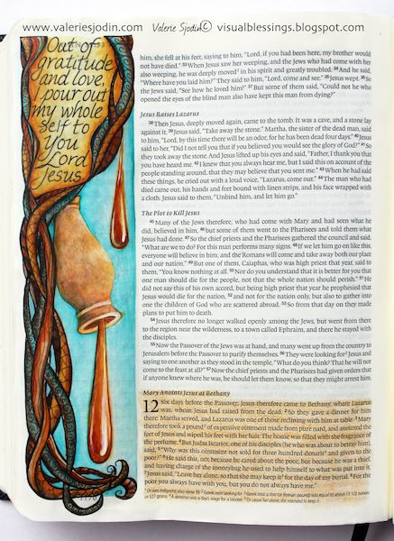 visual blessings: Extravagantly Poured Out - Bible Art Journaling