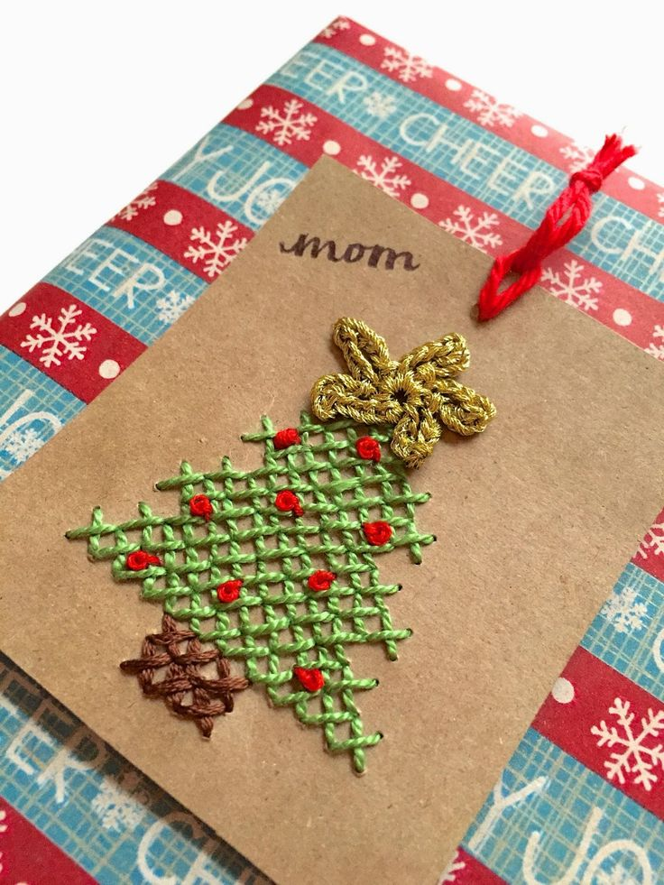 Cross-Stitched Gift Tag