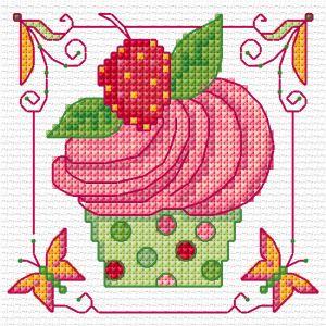 Cupcake - Free Cross Stitch Pattern