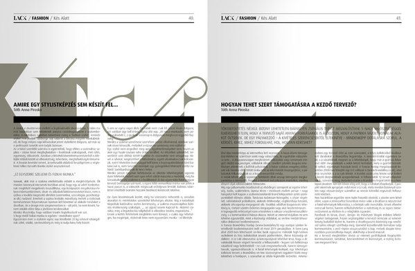 LACK magazine, PROJECT BY: Miklos Kiss