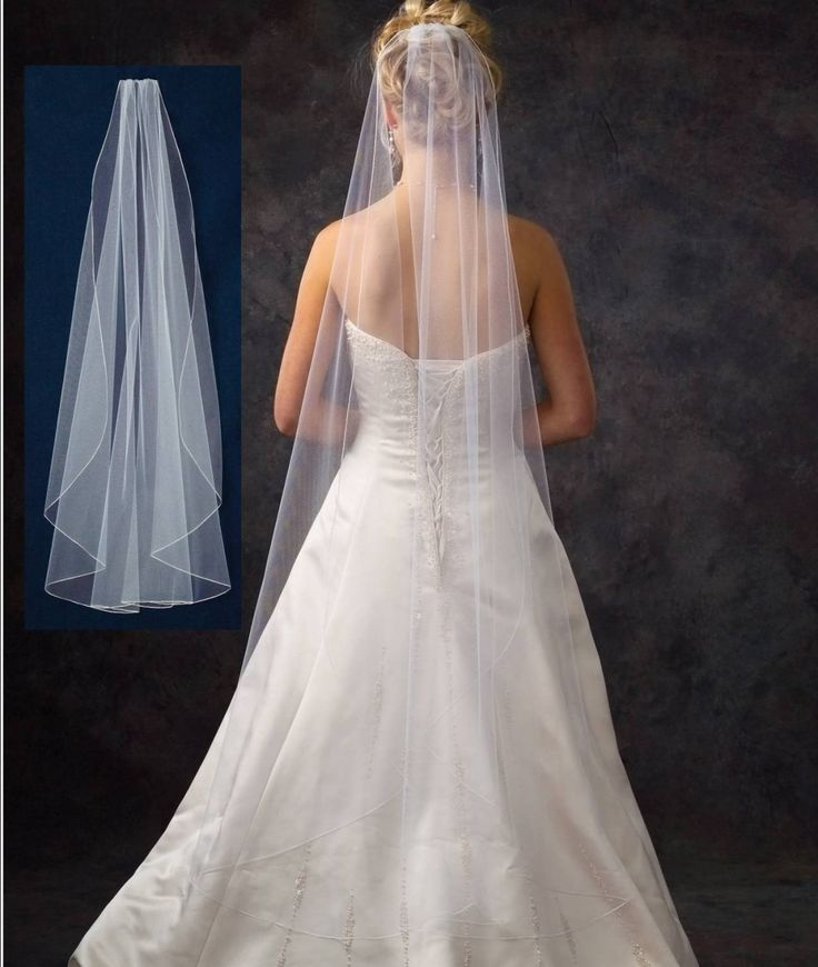 Waltz Length Flutter Cut Wedding Veil V4711 In Many Colors