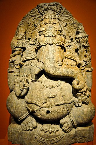 Seated Ganesha (Indian 12th Century) at the Virginia Museum of Fine Arts (VMFA) Richmond VA