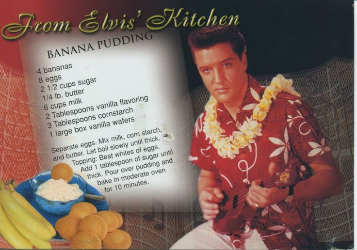 Elvis' Banana Pudding Recipe