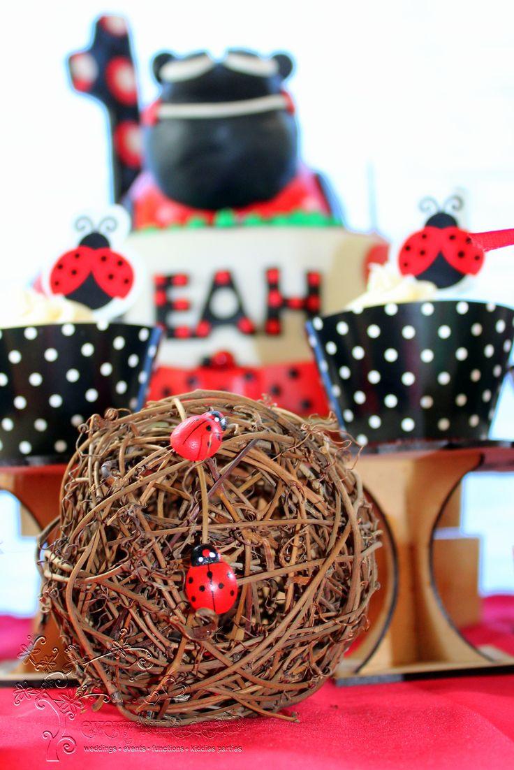 Ladybug Dessert Table #Ladybug #1stBirthday #Dessert Table