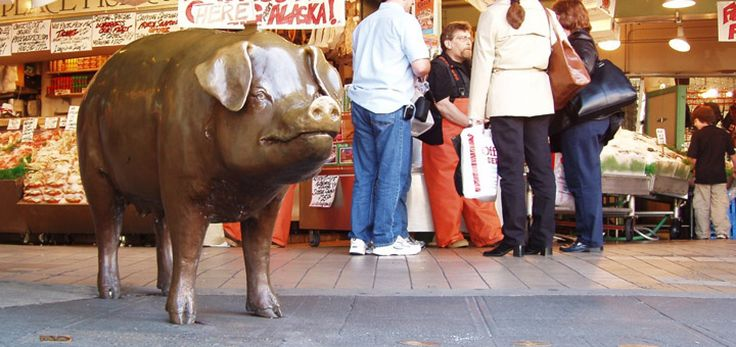 Image result for pike market place seattle pig