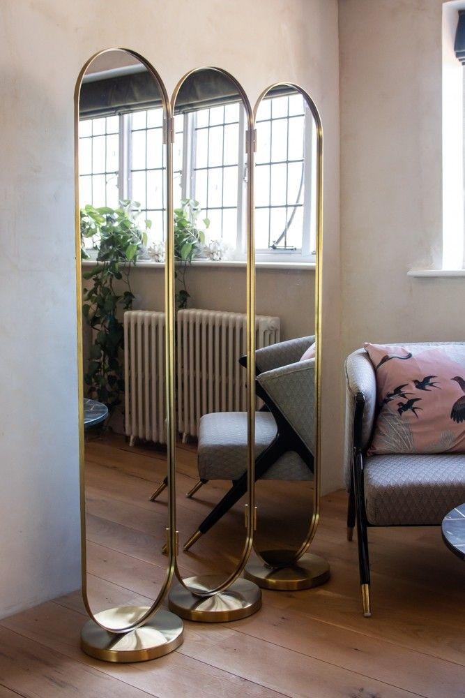 Gatsby Inspired 3 Way Dressing Mirror Room Divider Mirror Room Divider Dressing Mirror Room Divider