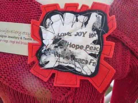TODAY'S BLOG from K BROWN JEWELLERY, IDEAS FOR WEARING MY TEXTILE BROOCHES   JehovahJJewellery