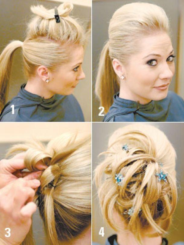easy hair styles for log hair