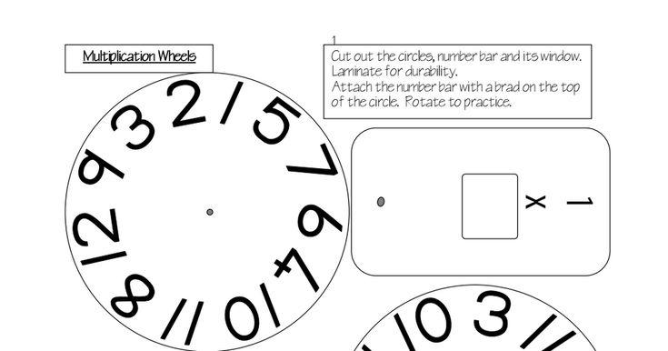 Roue de multiplication a une roue par table - Table de multiplication a imprimer ...
