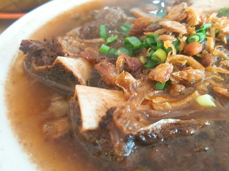 A traditional beef ribs soup from South Sulawesi