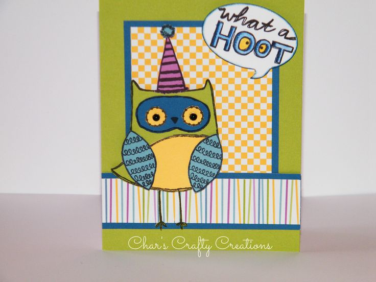 CTMH August SOTM - What a Hoot with Confetti Wishes paper