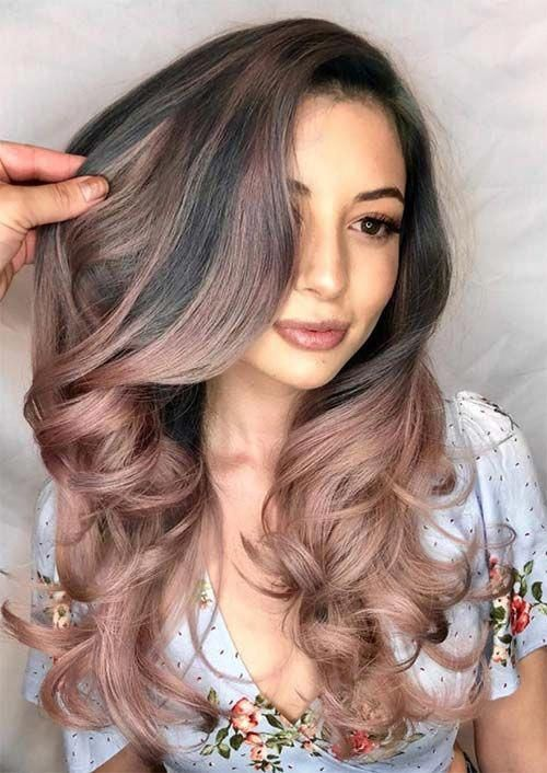 Hair Color Ideas Spring 2019 Spring Hair Colors Ideas & Trends: Ash Rose Gold Ombre Hair
