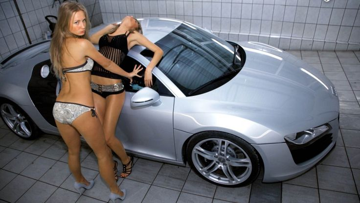 Two Girls In Bikinis Wash Audi Tt Sexy Women Pinterest