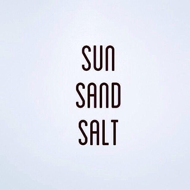 Sun, sad, salt