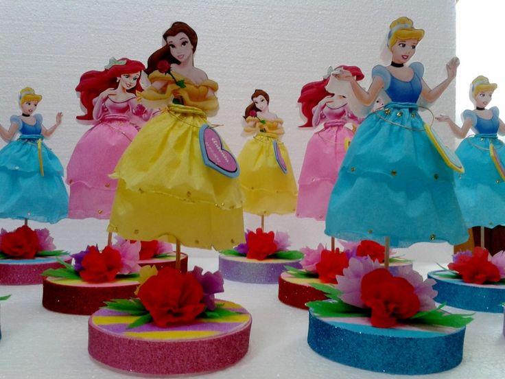 centros de mesa  de cumpleaños de Princesas