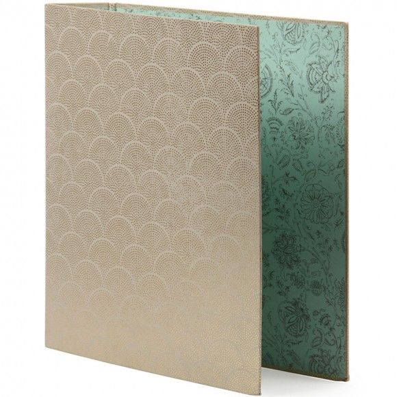 Beautifulest binder everrrrrrrr Indian foil lever arch file from paperchase-usa.com