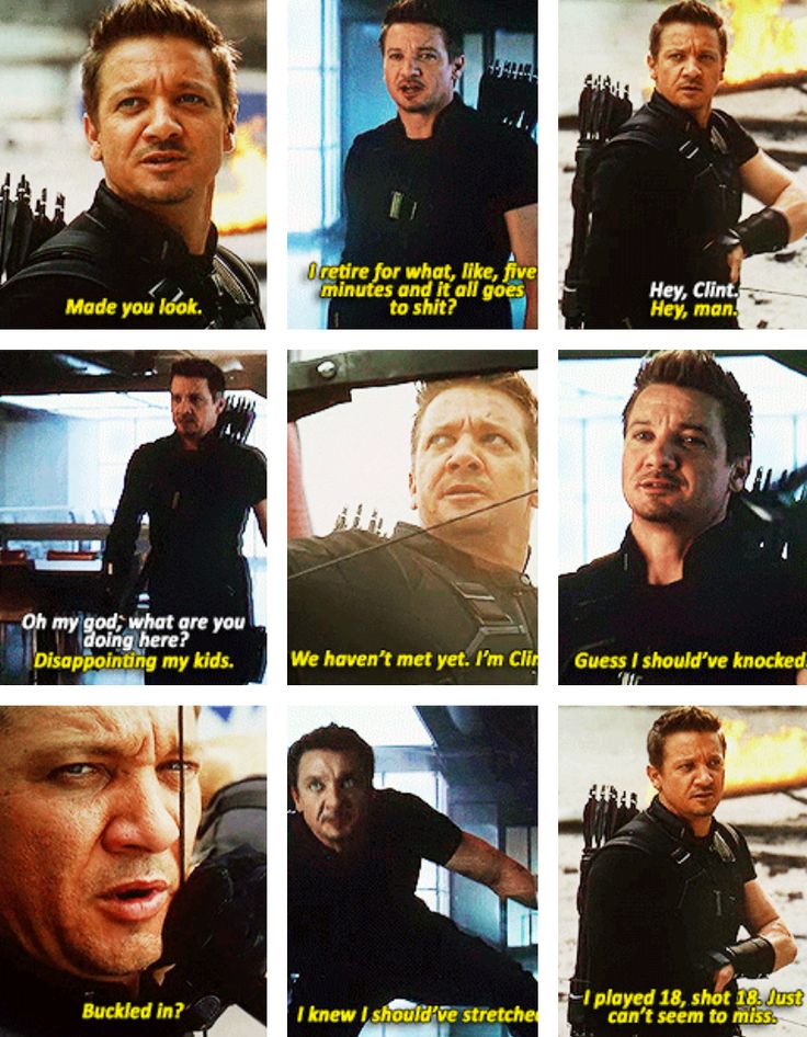 Clint Barton , for the few lines that he's got, has more personality in Captain America : Civil War than the other films hes been in