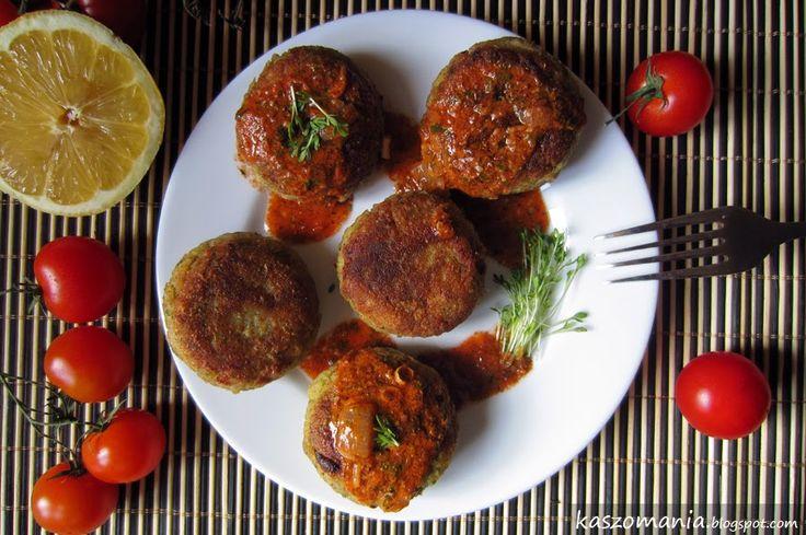Kaszomania - pomysły na dania z kaszy jaglanej: Kotlety z kaszy jaglanej i mielonych ziaren słonec...