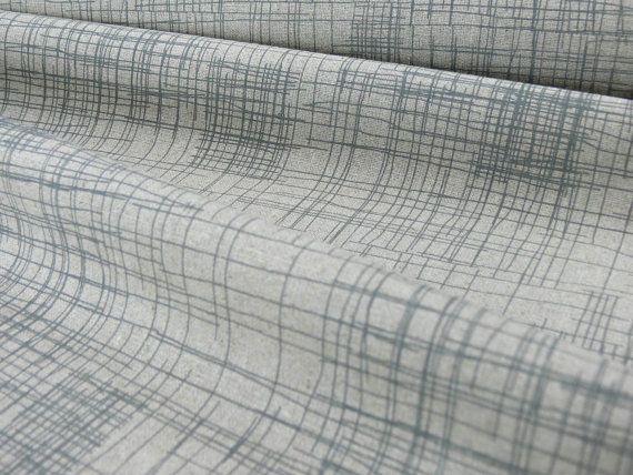 Crosshatch Fabric in Pencil Grey on Hemp by Mookah on Etsy, $25.00