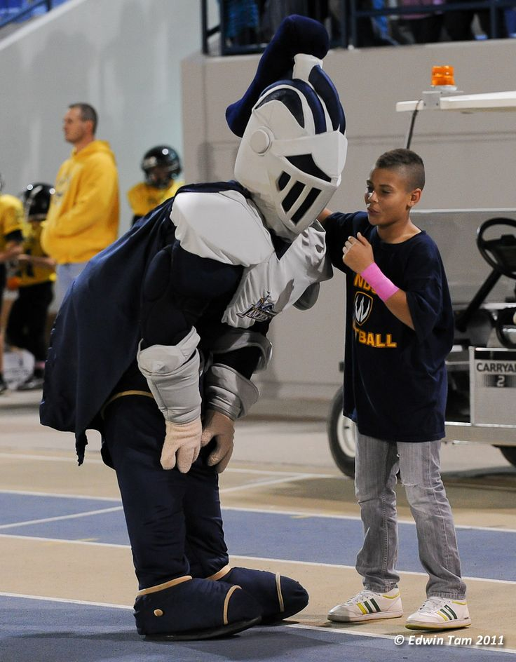 Planning the Lancers next play with a young fan