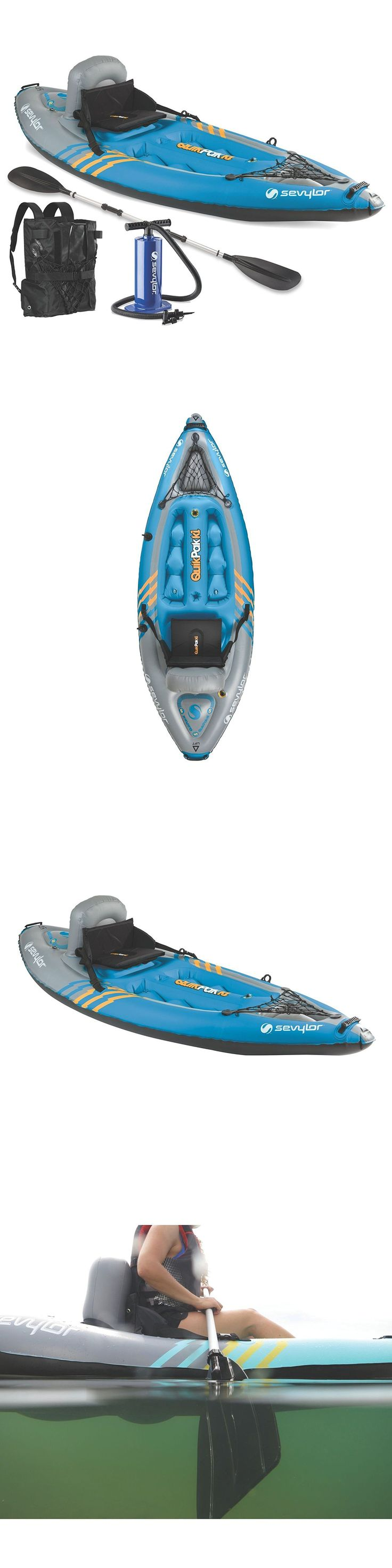 Kayaks 36122: New Sevylor K1 Quikpak 1-Person Inflatable Kayak Blue W Bag Seat Pump And Paddle -> BUY IT NOW ONLY: $139.95 on eBay!