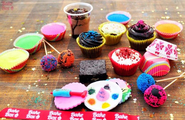 Holi-themed bake box by FLOC