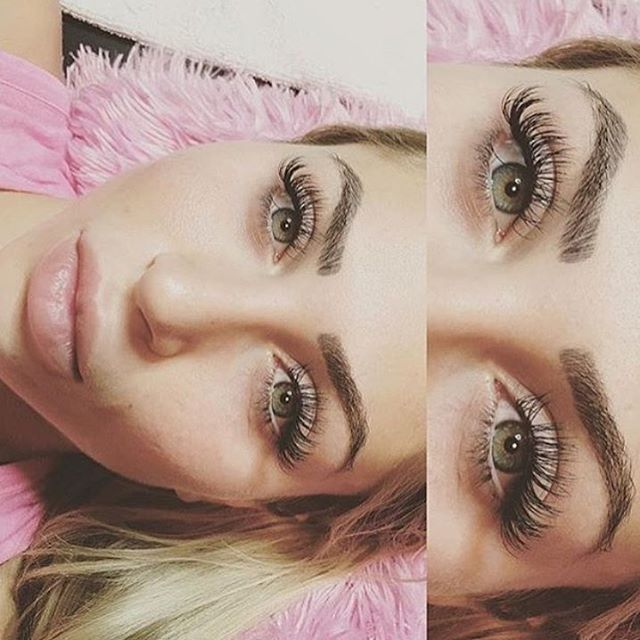 Can't wait for this babe to come back home to get lashed  @khloe   brows: @sheilabellapermanentmakeup ♡