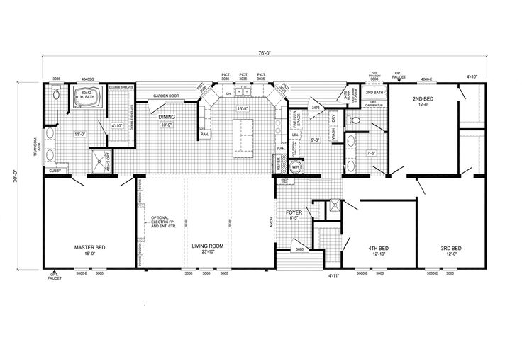 74dyn32764dh with images mobile home floor plans