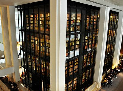 But the biggest draws are the King's Library and the Sir John Ritblat Gallery — the former an awe-inspiring, six-story glass tower right smack in the middle of the building, containing 65,000 printed volumes, pamphlets, manuscripts, and maps collected by King George III between 1763 and 1820; the latter, a stunning free exhibit showcasing sacred scrolls, historical documents, and original manuscripts