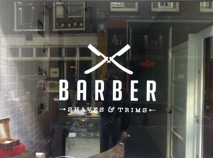 Barber shop logo, Amsterdam Barber logo Pinterest Barber Shop ...
