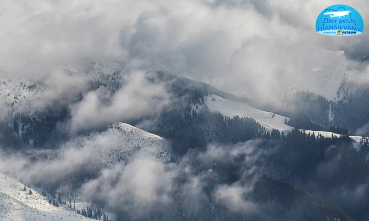 Clouds over Bucegi Mountains from Romania, Translyvania