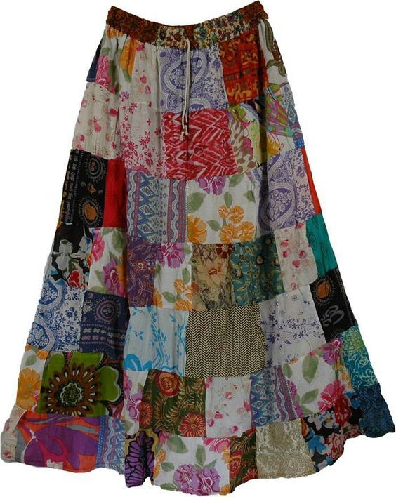 Patchwork skirt, I am planning to make one myself
