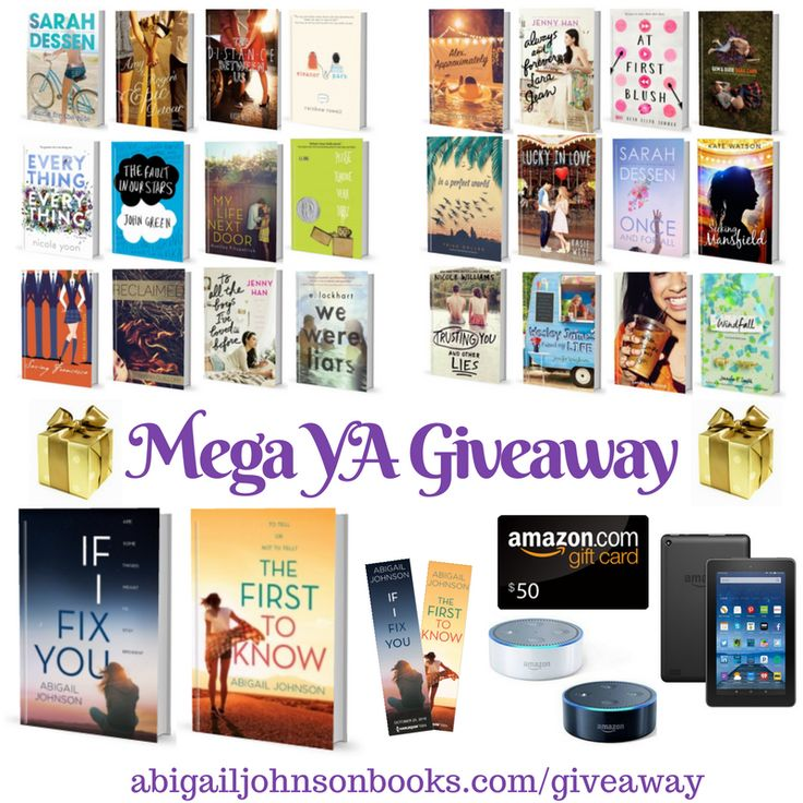 The First To Know, my second contemporary YA novel is hitting shelves in nine months (November 7, 2017 from Harlequin Teen), but the ARCs are going to be here a lot sooner so I thought I'd host a #giveaway. And not just any giveaway, a Huge, MEGA #YA giveaway full of my books, my favorite books, the upcoming books that I can't wait for, and a $50 Amazon gift card, a Kindle Fire, or Amazon Echo Dot (i.e. the coolest device ever!).