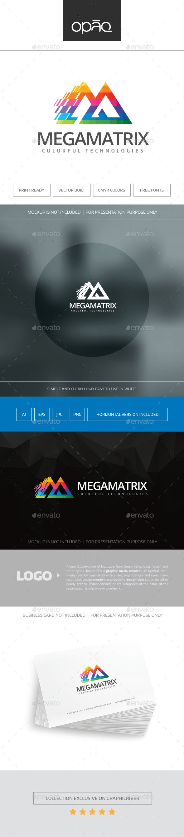 Mega Matrix Logo — Transparent PNG #movement #media • Available here → https://graphicriver.net/item/mega-matrix-logo/16472746?ref=pxcr