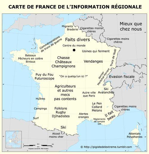 Carte de France de l'information régionale, par pigistedelextreme.tumblr.com