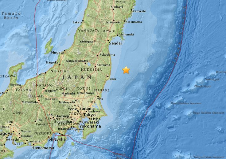 TOKYO (AP) — An earthquake with preliminary magnitude of 7.3 struck Tuesday off the coast of Fukushima prefecture in Japan.  The Japan Meteorological Agency says the quake struck around 6 a.m at a depth of 10 kilometers (6 miles).