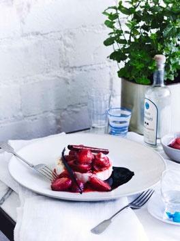Warm manouri with strawberry glyko - George Calombaris - Gourmet Traveller