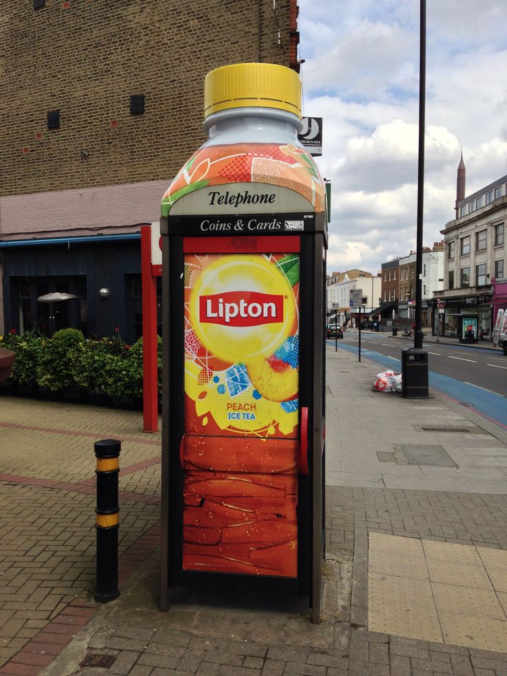 Guerrilla Advertising on a phone boothhttp://arcreactions.com/services/online-marketing/