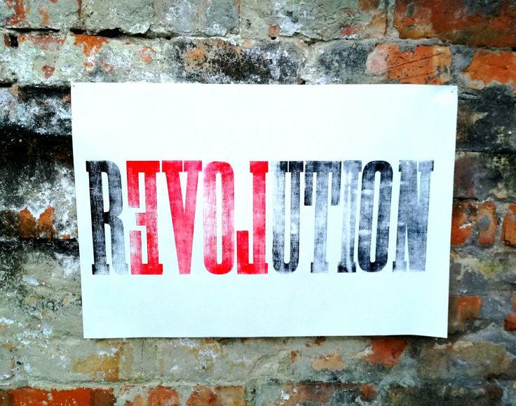#szililetterpress #letterpress #woodtype #reloveution #revolution