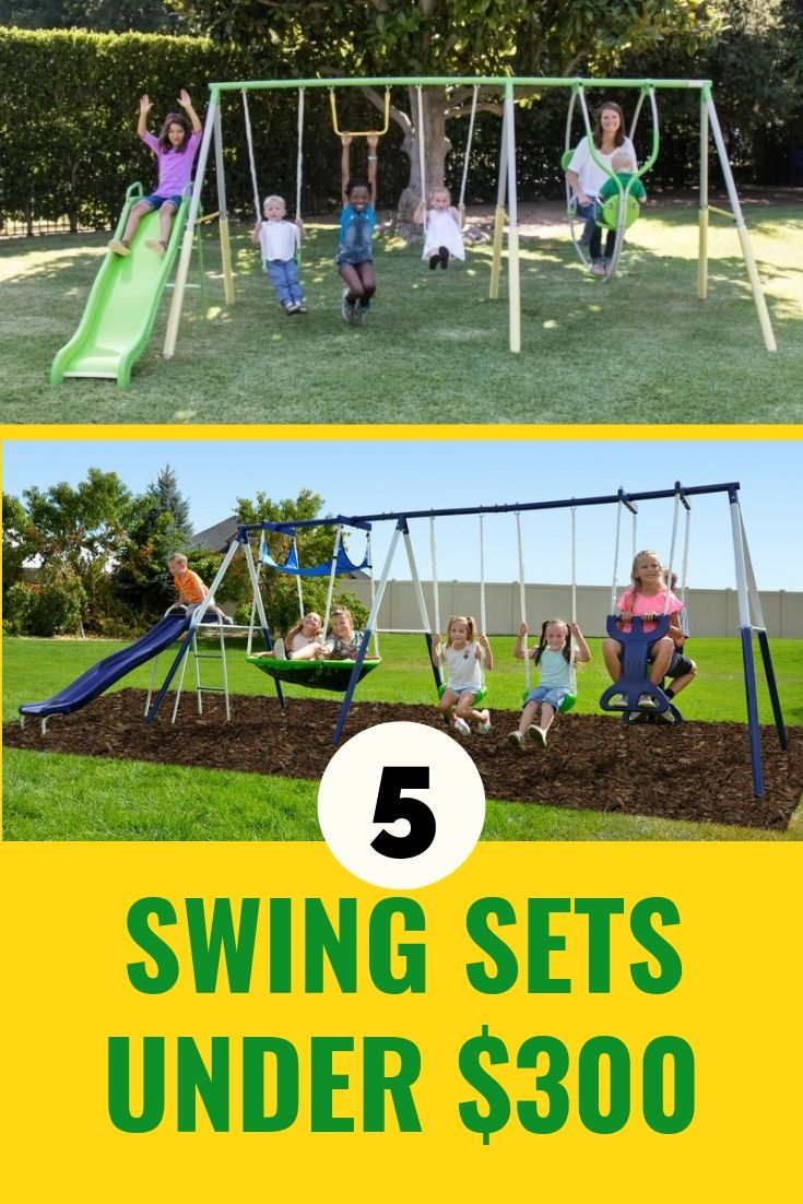 Budget Swing Sets Under 300 Yes These Are Some Of The Cheaper Swing Sets In The Market But They Ve Go Toddler Outdoor Playset Backyard Swing Sets Swing Set